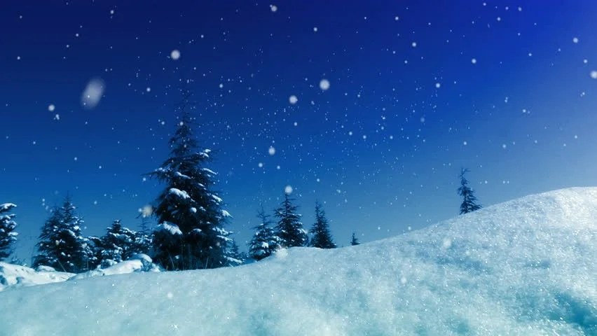 Snow Falling Animated Wallpaper Seamless Animation White Snowy And Snow Winter Landscape