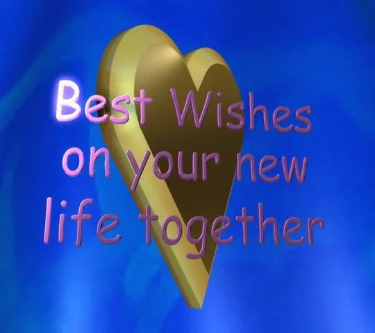 Best Wishes on your new life together lettered animation