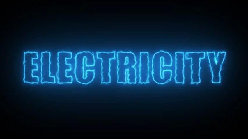 Animation of the Word Electricity, Video de stock (totalmente libre de