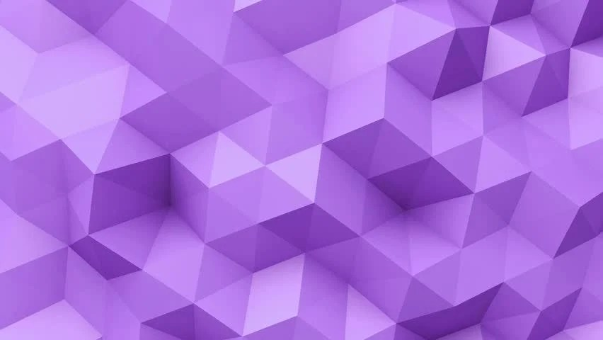 Stock video of 3d animation - purple low poly 21852073 Shutterstock