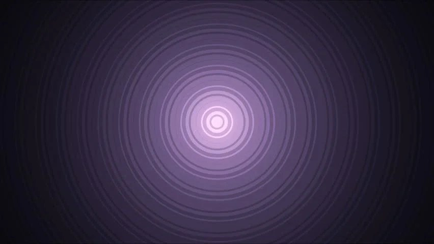 Abstract Expanding Circles Animation - Stock Footage Video (100