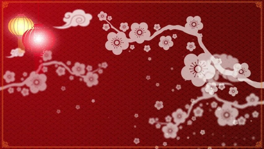 Chinese New Year Background with Stock Footage Video (100