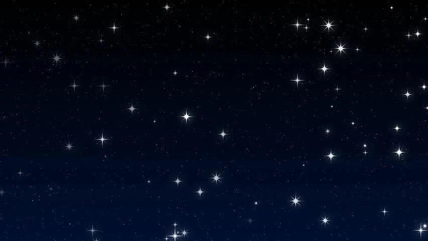 Christmas Snow Falling Wallpaper Stars In The Sky Looped Animation Beautiful Night With
