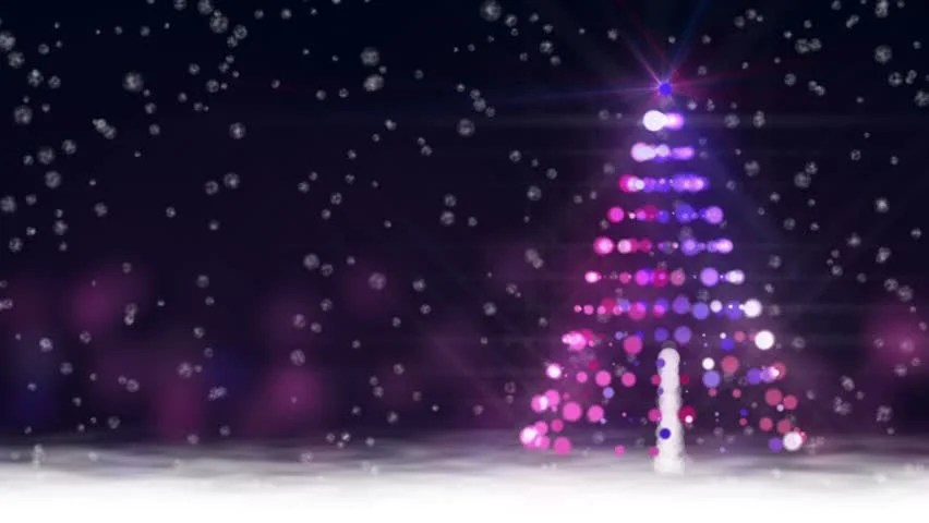 Snow Scene with Glowing Baubles Stock Footage Video (100 Royalty