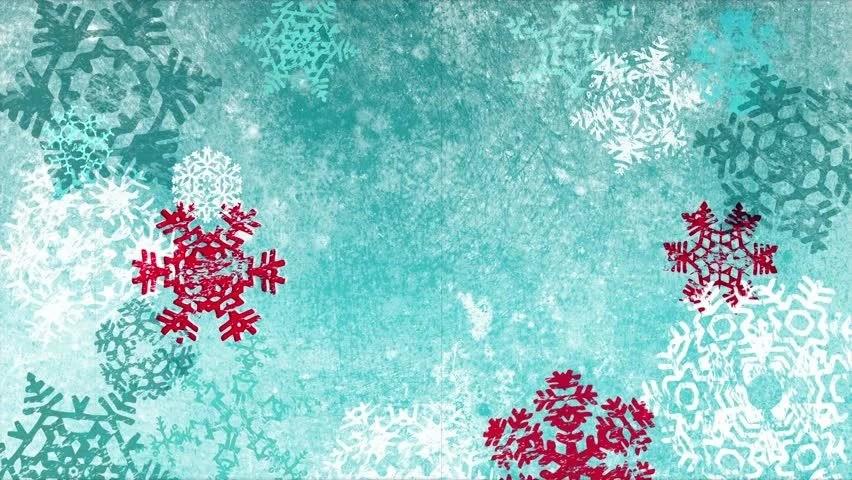 Christmas Wallpaper Snow Falling Christmas Snowflakes Loop Aqua Blue Version Holiday