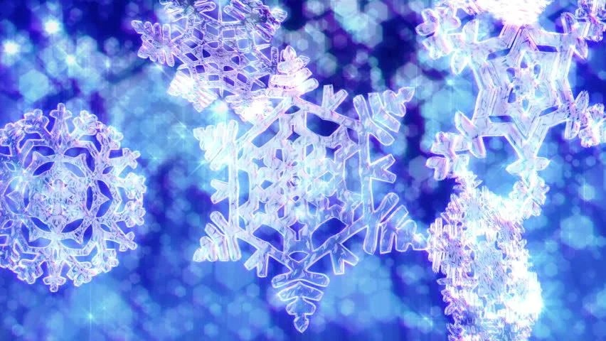 Pink Feathers Falling Wallpaper Big Christmas Snowflakes Loop Snow Falling With Dark Blue