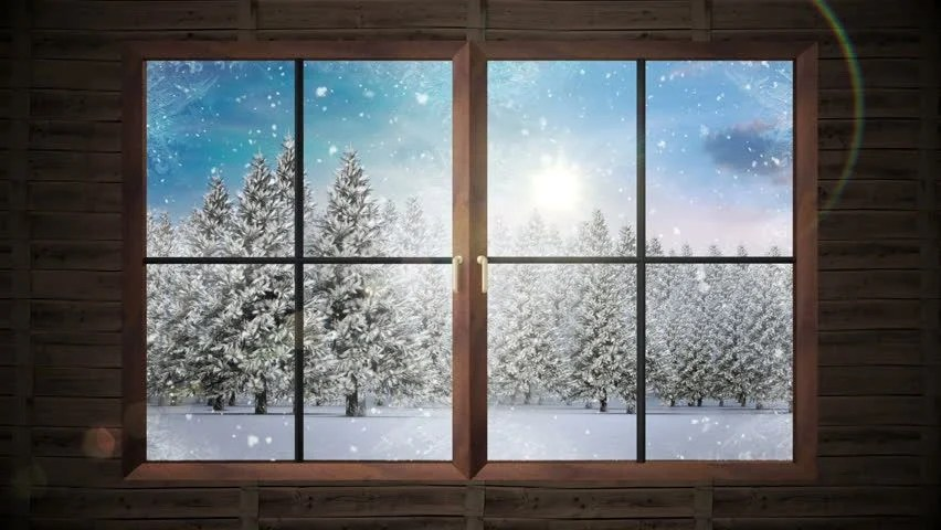 Animated Snow Falling Wallpaper Free Download Stock Video Clip Of Digital Animation Of Window Showing