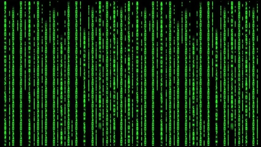 Falling Matrix Wallpaper Stock Video Of Cascading Columns Of Digits Of Ones