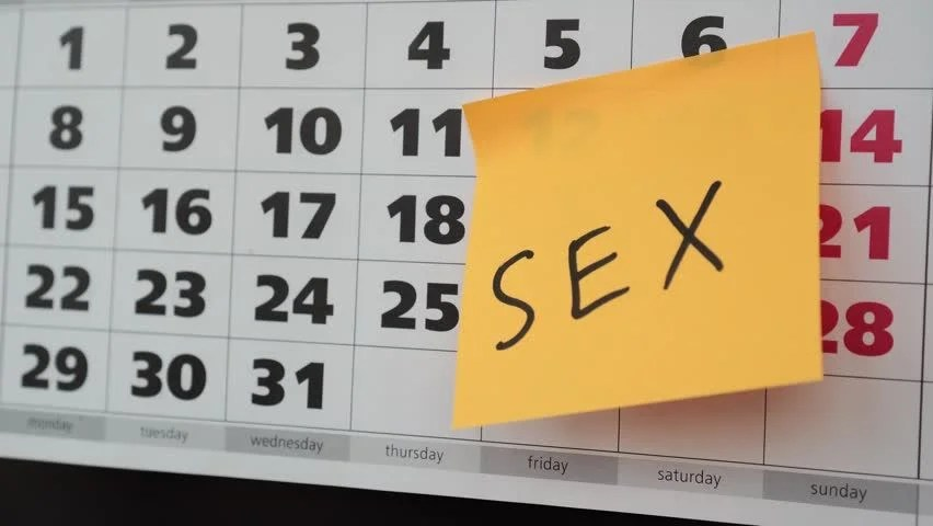 Office Calendar, Sex Sticker Concept Stock Footage Video (100