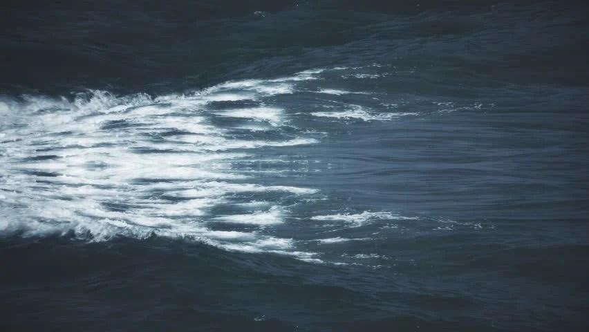Sea Foam Night Waves Ocean Stock Footage Video (100 Royalty