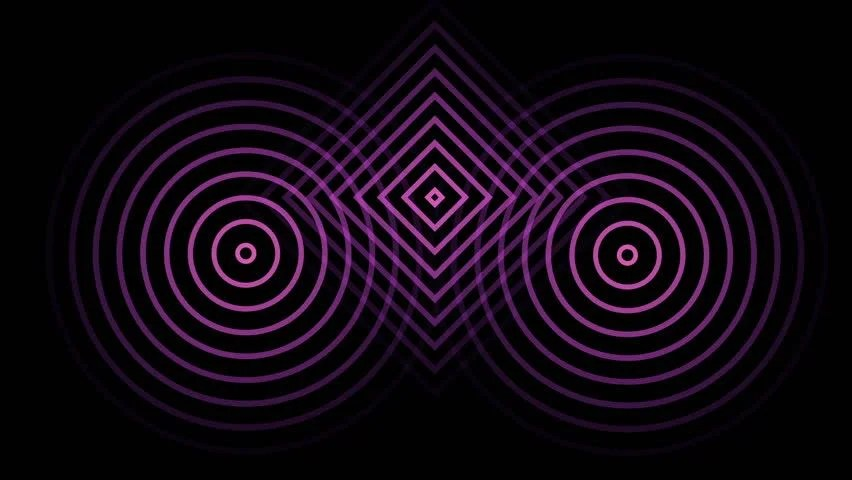Animation of 3 Circles or Stock Footage Video (100 Royalty-free