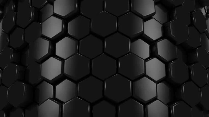 3d Cube Live Wallpaper Download Stock Video Of Abstract Background Of Black Honeycombs