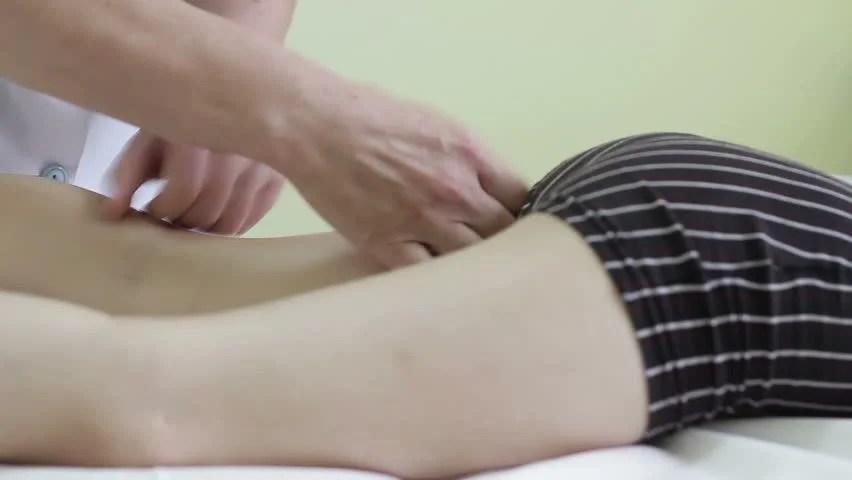 Baby Massage, Massaging the Feet Stock Footage Video (100