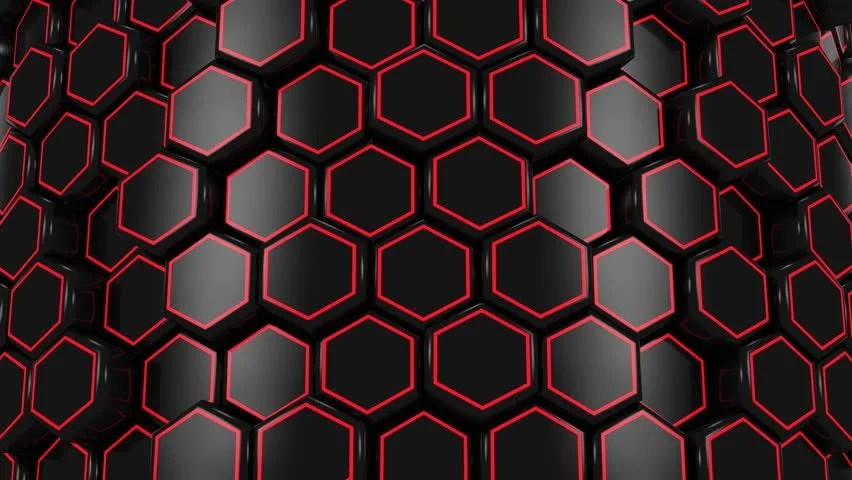 3d Octagon Wallpaper Background Formed From Moving Honeycombs Abstract