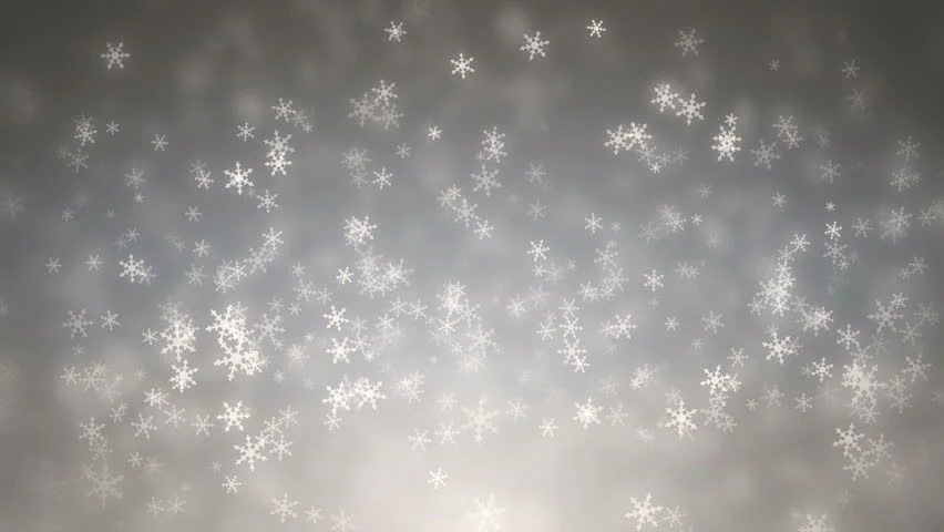 Beautiful Snow Falling Wallpapers Silver Snowflakes And Stars Falling Computer Generated