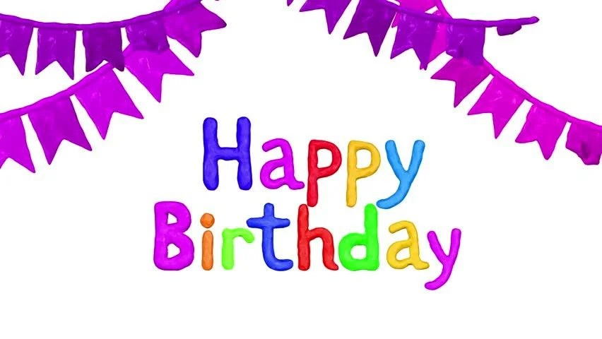 Stock video of clay animation title happy birthday and 24579968 - animation title