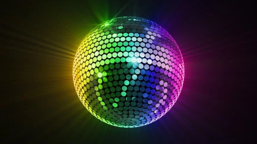 3d Dj Wallpaper Free Download Disco Mirror Ball Lights Stock Footage Video 2865850