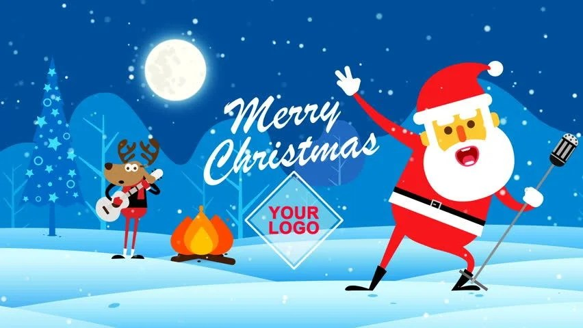 Christmas Wallpaper Snow Falling Christmas Snowman Salutation Animated Greeting Card 3d