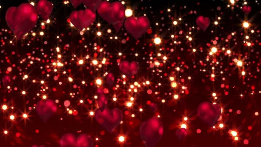 Falling Hearts Wallpaper Digital Animation Of Red Hearts Stock Footage Video 100