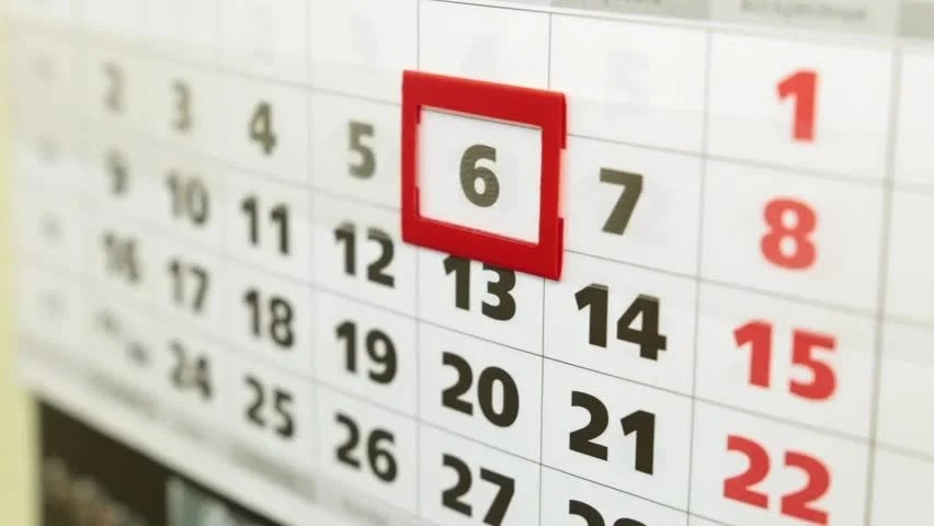 Female Hand and Office Calendar Stock Footage Video (100