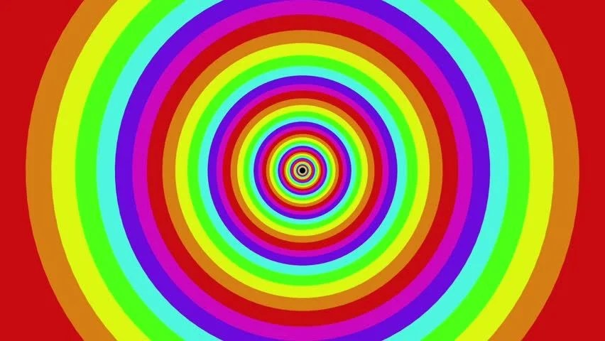 3d Tunnel Wallpaper Colorful Background Rainbow That Rotating Spiral 2d