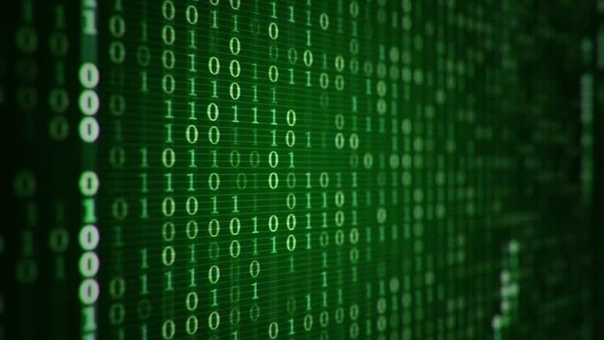 Matrix Falling Code Wallpaper Technologic Background With Representation Of Binary Code