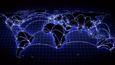 Lines Showing Countries Connecting On World Map In Black And Blue Stock Footage Video 3659279 ...
