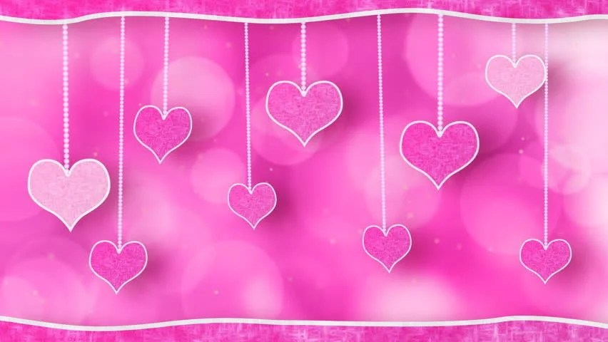 Cute Red Hearts Wallpapers Stock Video Clip Of Pink Hearts Dangling On Strings Love