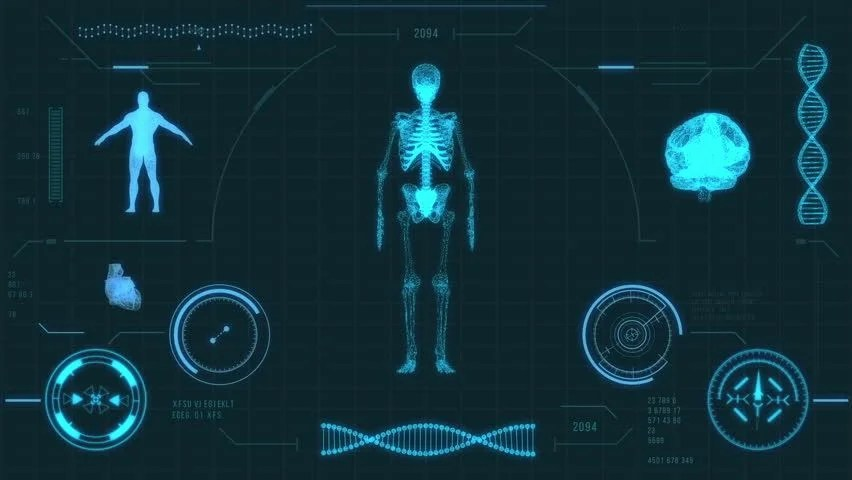 3d Hologram Wallpaper App Futuristic Medical User Interface With Hud And Infographic
