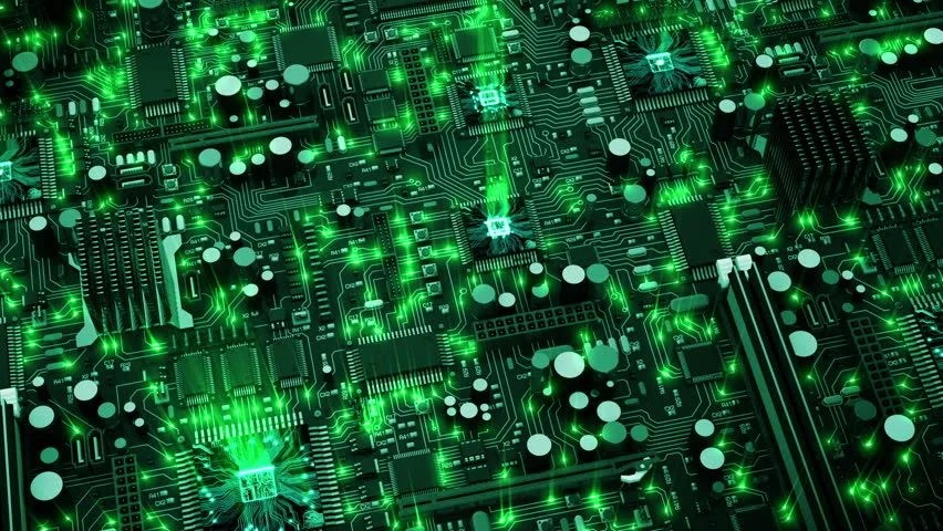 Motherboard Wallpaper 3d Fly Through Of Abstract Electronic Circuit Boards Such As