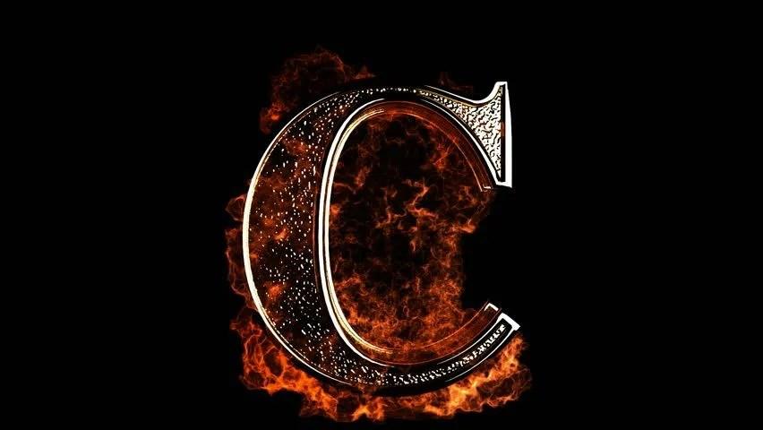 Letter C On Fire Stock Footage Video 1034761 | Shutterstock