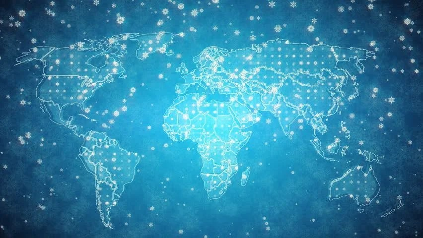Stock video of blue global maps network rollback animated - animated maps