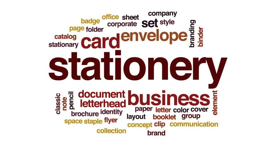 Stationery Animated Word Cloud, Text Stock Footage Video (100 - stationery for word documents