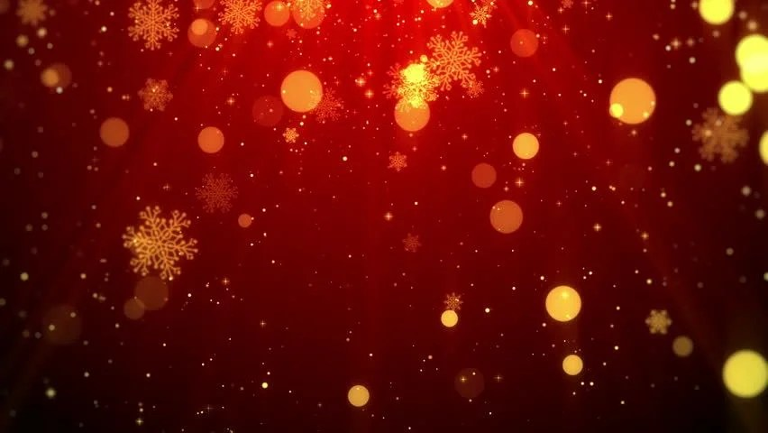 Stock video of christmas background motion graphics footage (red - christmas theme background
