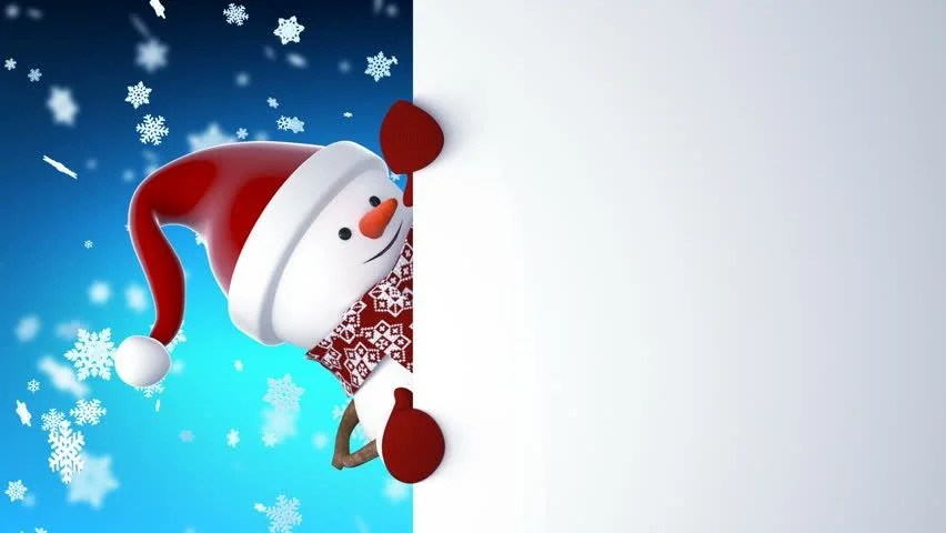 Snowman With Scarf And Hat Image Free Stock Photo