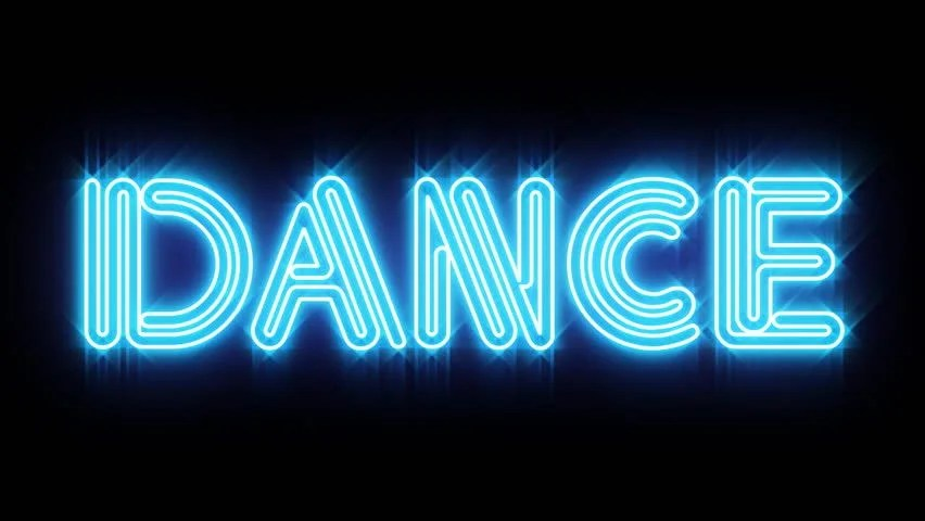 Blue Dance Neon Sign Stock Footage Video (100 Royalty-free