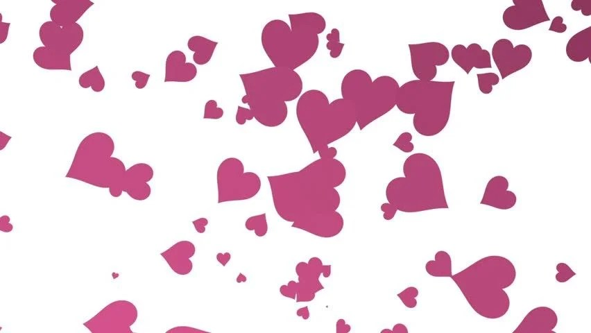 Glam Fall Background Wallpaper Pink Love Hearts White Background Stock Footage Video