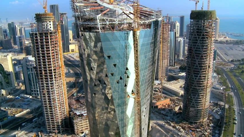 Singapore Wallpaper Hd Skyline Of Doha Qatar Image Free Stock Photo Public