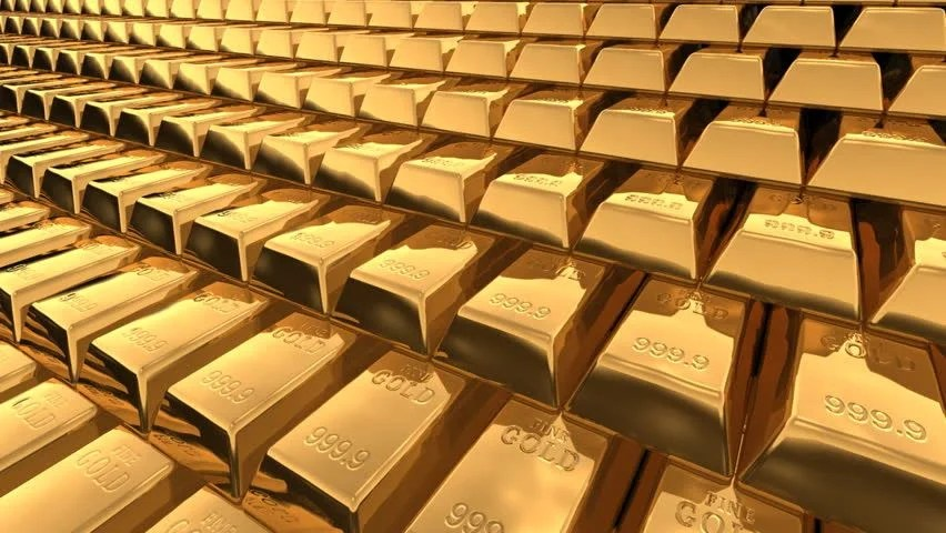 3d Pyramid Wallpaper Pyramid Of Fine Gold Bars In Bank Vault Or Safe Business