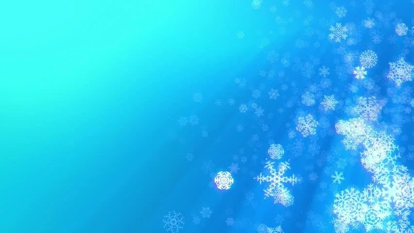 Free Snow Falling Animated Wallpaper Christmas Snowflakes Loop Aqua Blue Version Holiday