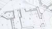Construction Drawings Background. Loop Stock Footage Video ...