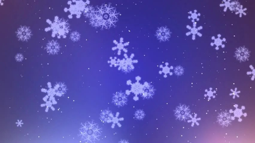 Purple And Blue Falling Stars Wallpaper Snow Flakes Falling Animated Festive Abstract Background