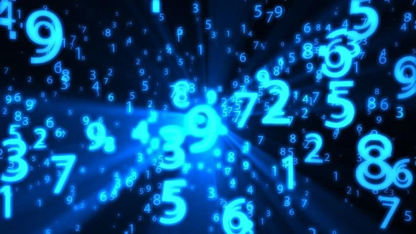 3d Motion Wallpaper Download Seamless Blue Background With Flying Numbers And Math