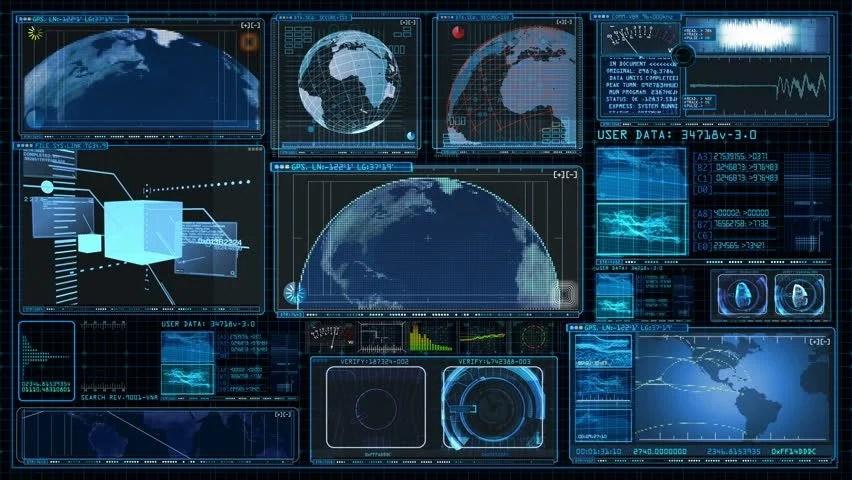 3d Hologram Wallpaper For Pc Technology Interface Computer Data Screen Gui Stock