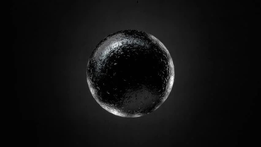 3d Liquid Abstract Wallpaper Stock Video Of Abstract Black Textured Sphere Object