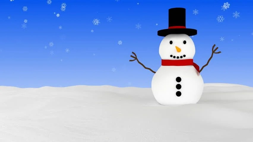 Christmas Wallpaper Snow Falling Christmas Or New Year Snowman Animated Greeting Card 3d