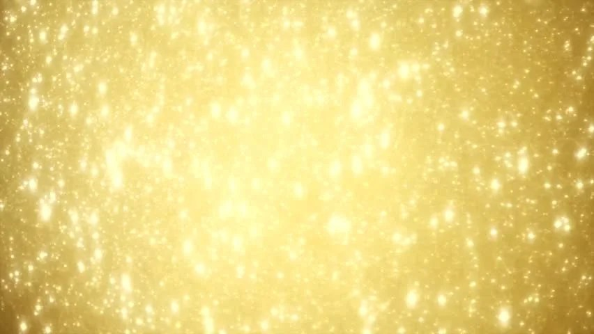 Christmas golden background with stars falling gold