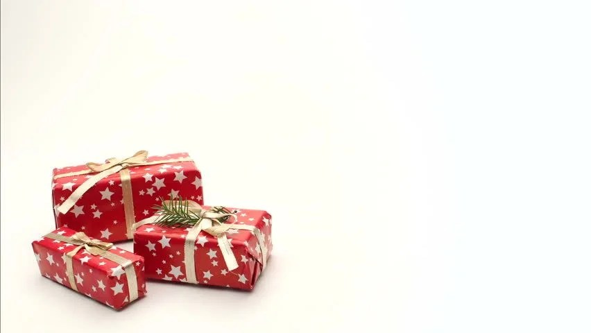 Cute Merry Christmas Wallpaper Backgrounds Christmas Gifts Moving On White Stock Footage Video 100