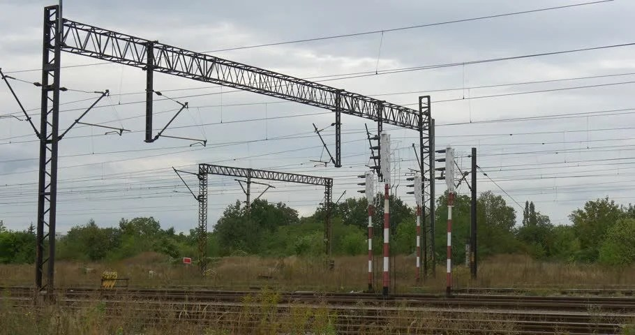Supports of the Railroad Contact Stock Footage Video (100 Royalty