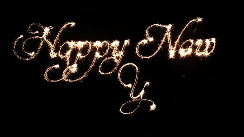 Sparkles Writting Happy New Year, Stock Footage Video (100 Royalty